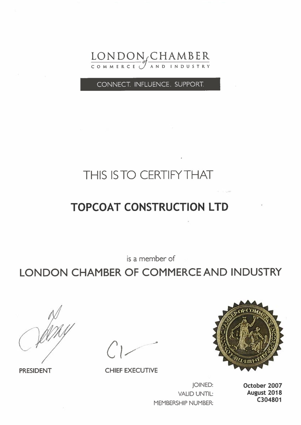 London Chamber of Commerce