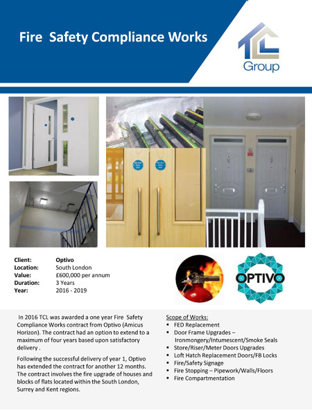 Optivo – Fire Safety Compliance Works