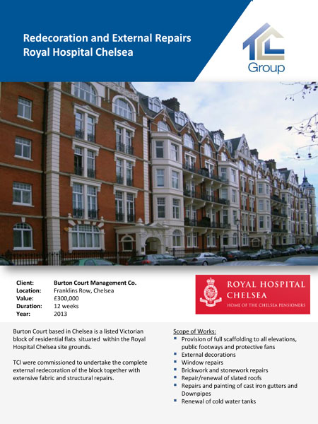 Burton Court Royal Hospital Chelsea Site