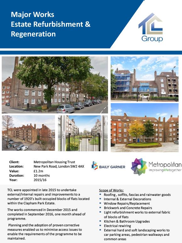 Metropolitan Housing Trust – Clapham Park Estate Refurbishment