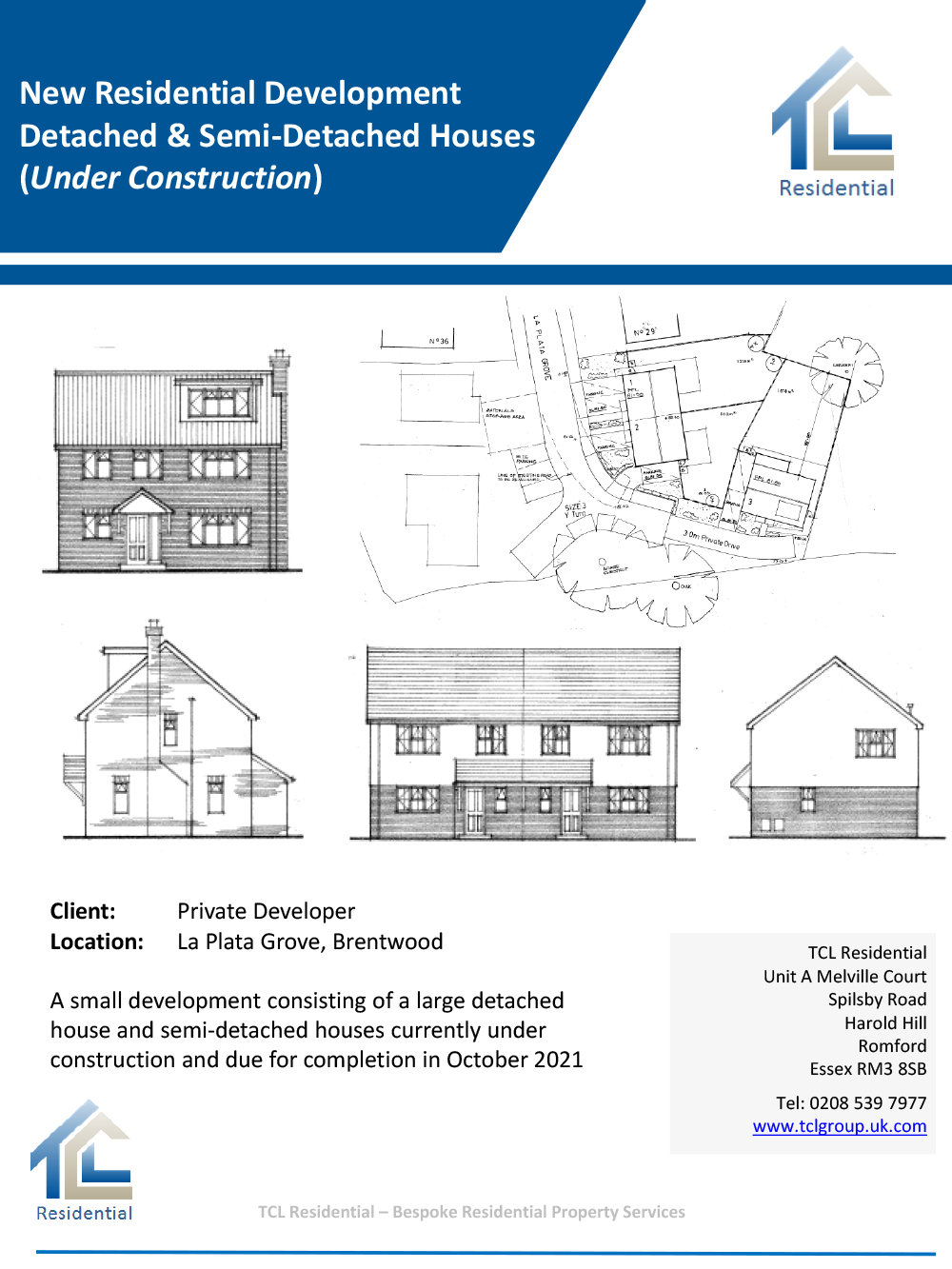 New Residential Development Detached & Semi Detached Houses (Under Construction)
